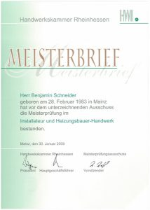 BenjaminSchneider_Zertifikat